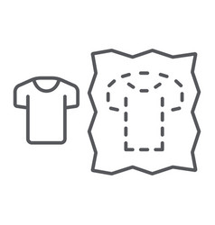 Sewing pattern thin line icon dressmaking and sew vector