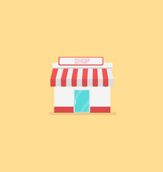 shops and stores icon in flat design style vector image