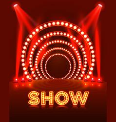 Show light podium vector