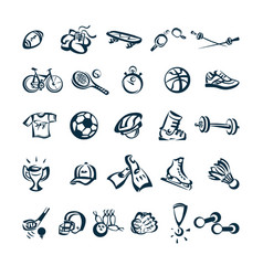 Sport drawing cartoon icon vector