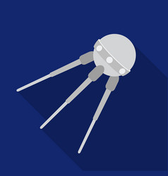 sputnik one icon in flate style isolated on white vector image