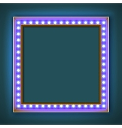Square frame with glowing light bulb vector