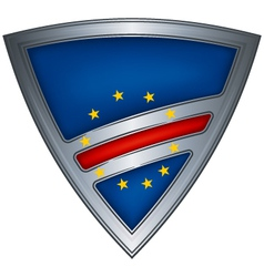 steel shield with flag cape verde vector image