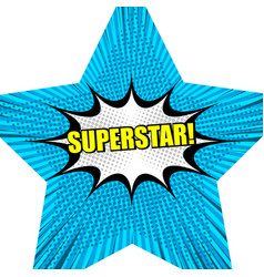 superstar comic background vector image