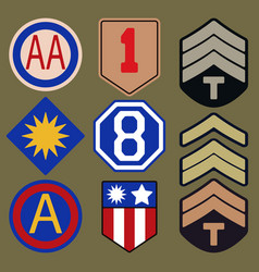 T-shirt print design army patches typography vector