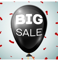 Text Big Sale on Black Baloon over grey background vector