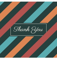 thank you card stripes background vector image vector image