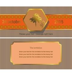 The invitation 7 vector