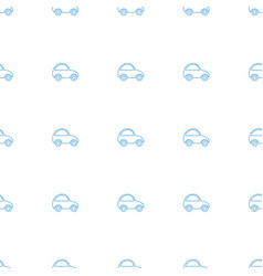 toy car icon pattern seamless white background vector image