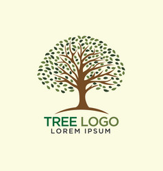 Tree logo design tree silhouette template vector