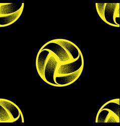 Volleyball black seamless background vector