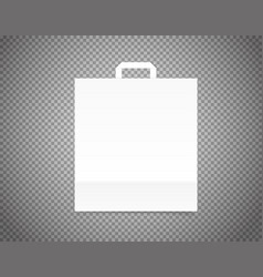 White paper craft bag on transparent background vector