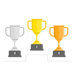 winners cup set vector image