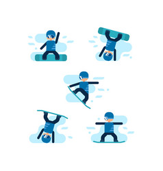 Winter games snowboarding vector