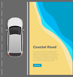 coastal road conceptual flat web banner vector image vector image