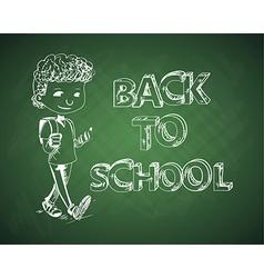 Education back to school chalboard kid vector image vector image