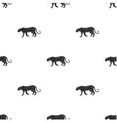 leopardafrican safari single icon in black style vector image vector image