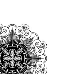 partial manadala indian pattern surounded with vector image vector image