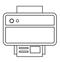 printer icon outline line style vector image vector image