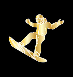 Extreme sport snowboard design vector