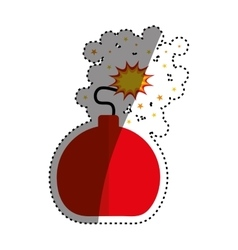 isolated ball bomb vector image vector image