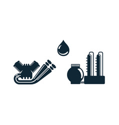 oil industry flat icon set pictogram vector image