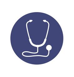 stethoscope medical symbol vector image