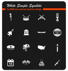 veterans day icon set vector image