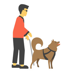 disabled human handicapped with canine helpmates vector image