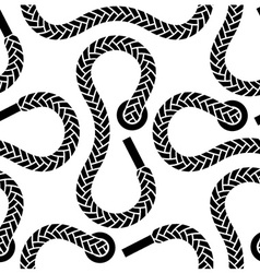 seamless monochrome shoelace pattern vector image vector image