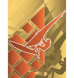 sport poster series windsurfing vector image
