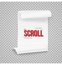 Folded White Paper Sheet Template vector image vector image