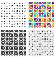 100 sportsmanship icons set variant vector