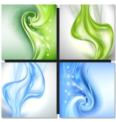 Abstract blue green background vector