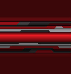 Abstract red grey metallic cyber polygon vector