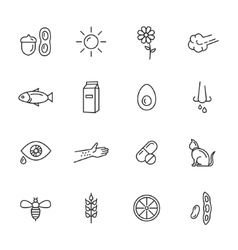 Allergy Icons vector image