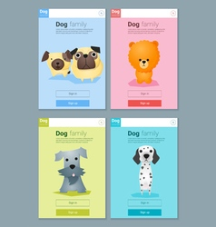 Animal banner with dogs for web design 8 vector image