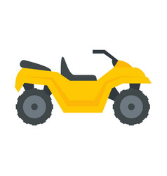 Atv quad bike icon flat style vector