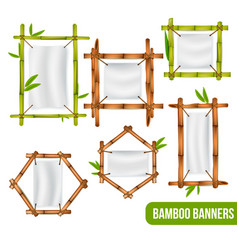 bamboo frames banners set vector image