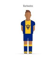 Barbados football player Soccer uniform vector image