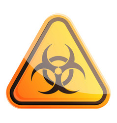Biohazard sign icon cartoon style vector