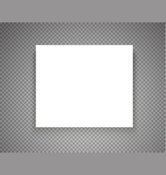 Blank picture frame on transparent background vector