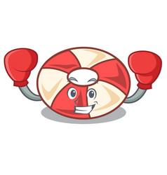 Boxing swim tube character cartoon vector