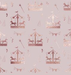 Carousel rose gold elegant texture vector