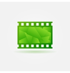 Cinema filmstrip logo template vector image
