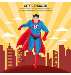 City Defender Flat vector image
