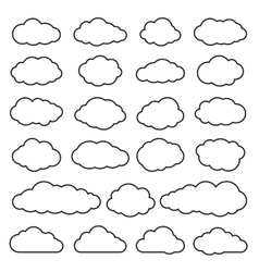 Clouds Collection of Flat Icons vector image