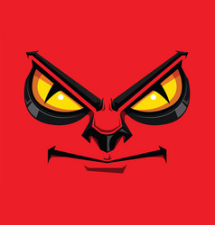 Comic faces show angry vector