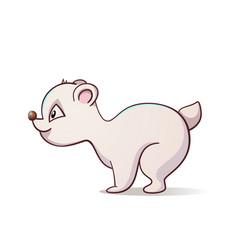 cute funny polar bear vector image