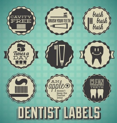 Dentist Labels and Icons vector